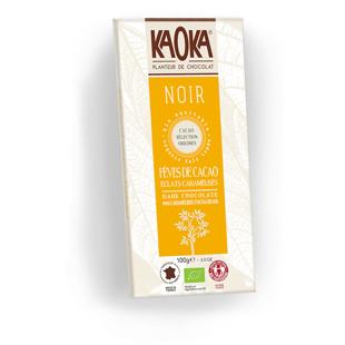 Tableta de chocolate Kaoka con cacao caramelizado