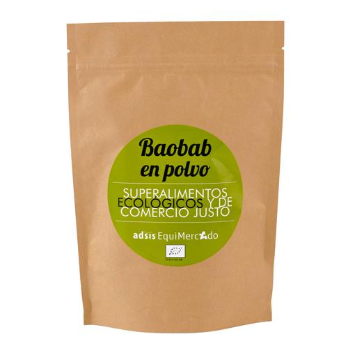 Baobab en polvo ecológico y de Comercio Justo, en bolsa marrón
