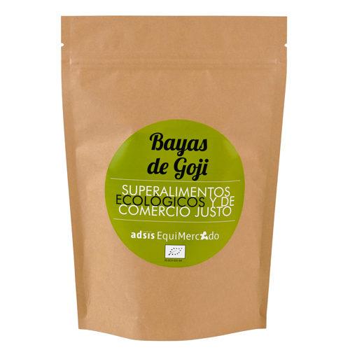 Bayas de Goji ecológicas y de Comercio Justo, en bolsa marrón