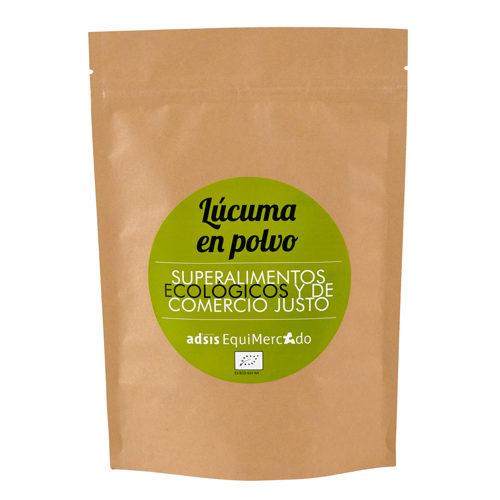 Lúcuma en polvo ecológica y de Comercio Justo, en bolsa marrón
