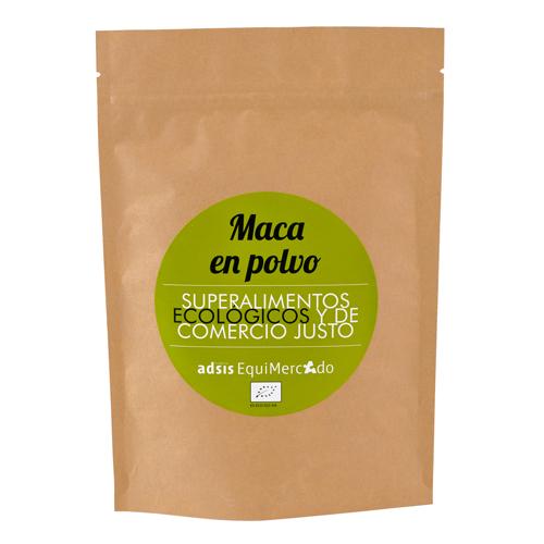 Maca en polvo ecológica y de Comercio Justo, en bolsa marrón