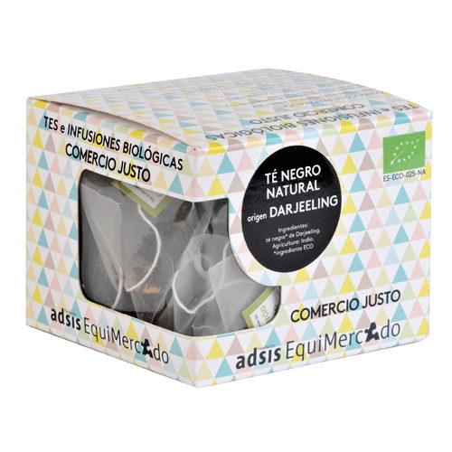 Caja de té negro darjeeling en pirámides (contiene 15 uds)