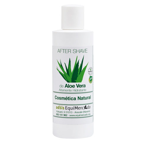 Bote de after shave de aloe vera
