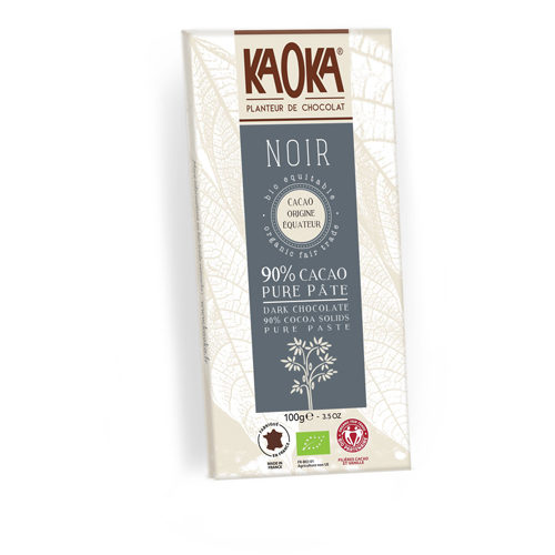 Tableta de chocolate kaoka negro 90% cacao