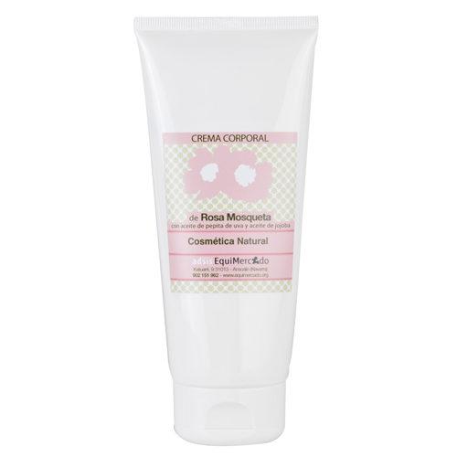 Bote de crema corporal de Rosa Mosqueta