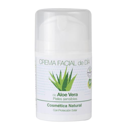 Bote de crema facial de día de Aloe Vera