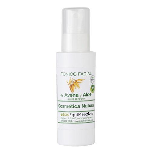 Bote de tónico facial de Avena y Aloe pieles sensibles