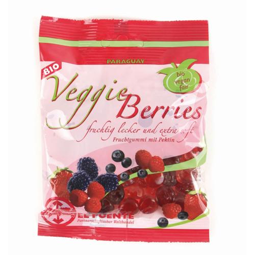 Bolsa de gominolas veganas de frutos rojos